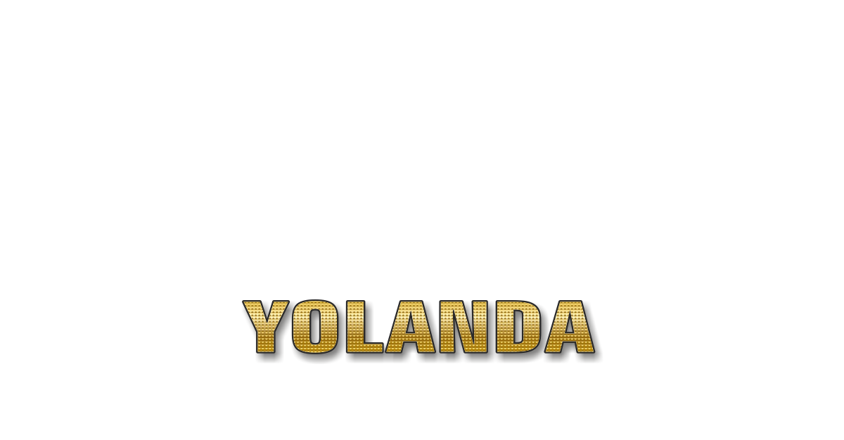 Happy Birthday Yolanda Personalized Card for celebrating