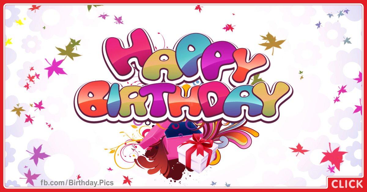 Happy Birthday Gift Card celebrating