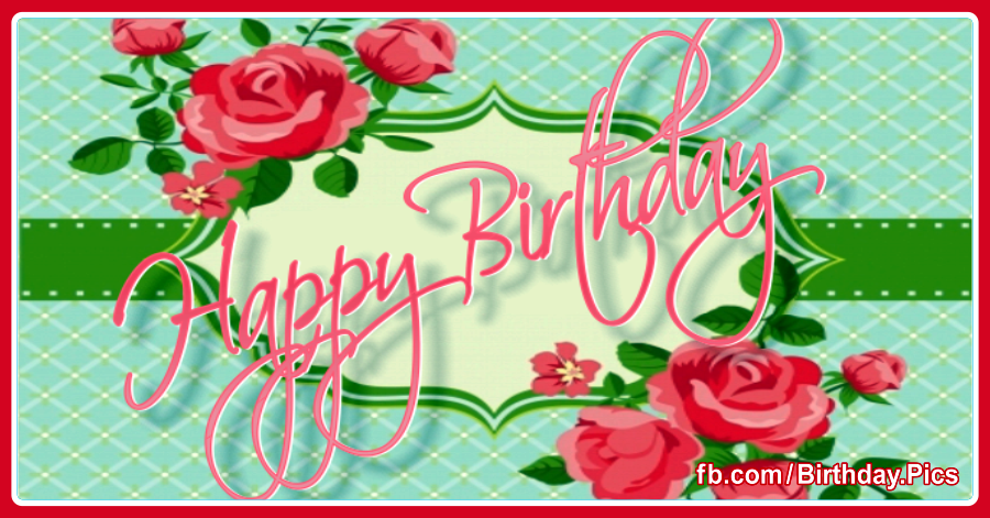 Wishing You A Happy Birthday pink rose - 0015