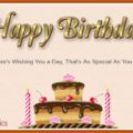 Happy Birthday page card - 0001c