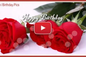 Romantic Music Happy Birthday Song Video