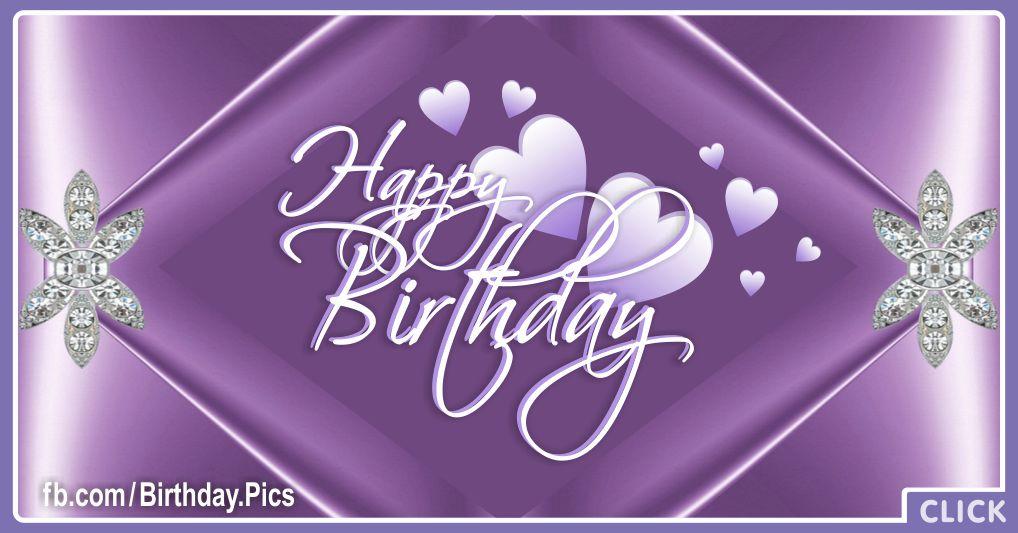Lilac hearts birthday card - 613