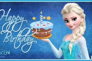 Elsa Getting Frozen Cake For Your Birthday