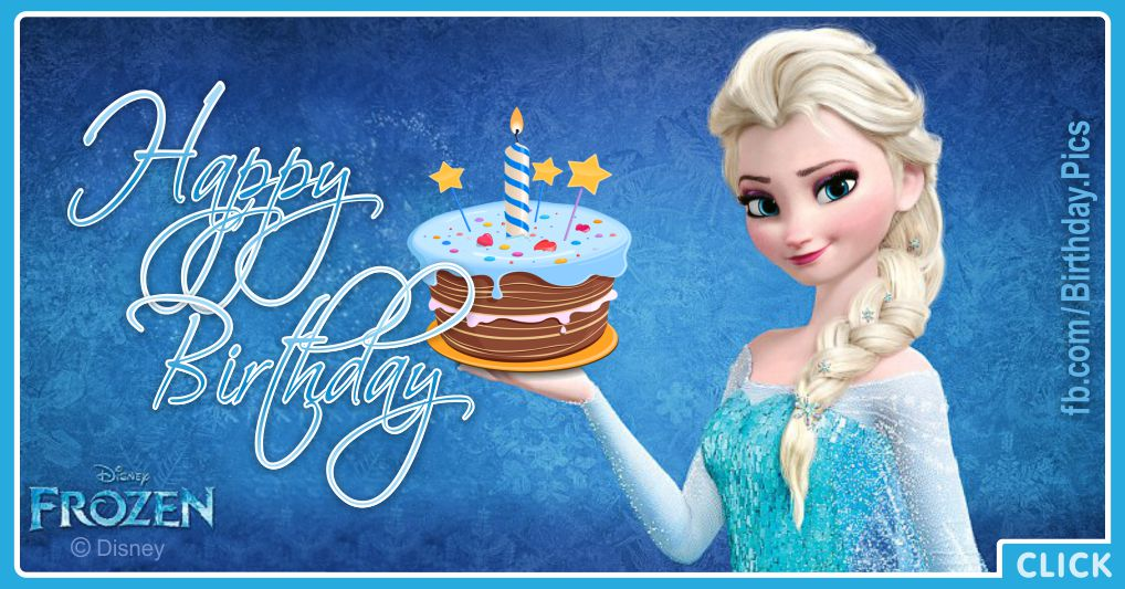 Elsa getting frozen cake for your birthday - FZN003a