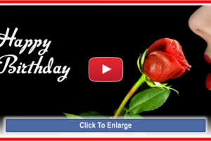 Happy Birthday Video Card with Elegant Pictures and Romantic Music