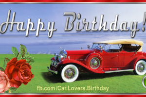 Happy Birthday to a Car Lover