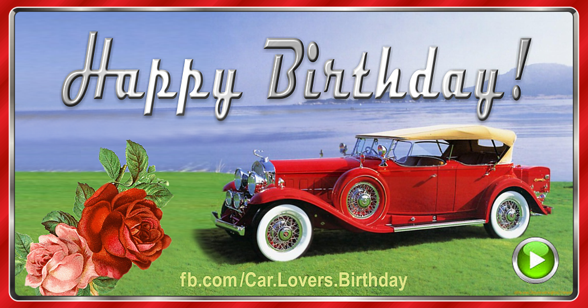 Happy Birthday to a Car Lover image