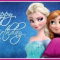 Frozen sisters celebrate your birthday - FZN004a