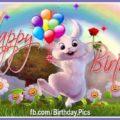 Happy birthday with cute rabbit - 611