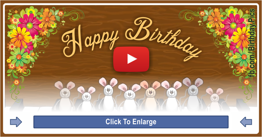Happy Birthday Musical Mice - mice playing piano - 0015c