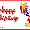 Happy birthday card with Mickey Mouse - 0041