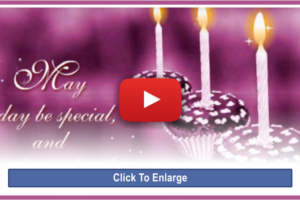 My Happy Birthday Message to You – Video