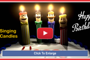 Singing Candles Happy Birthday Song Video For You