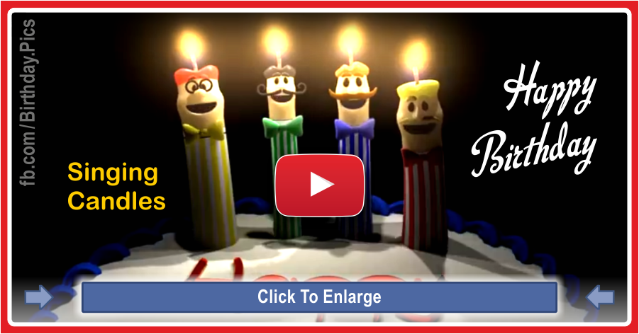 Singing candles happy birthday song video - 0018a