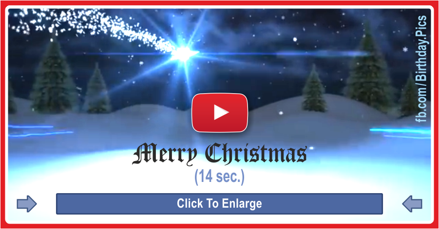 Merry Christmas card 14sn video - 1-0022a