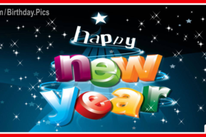 Happy New Year with 3D Letters