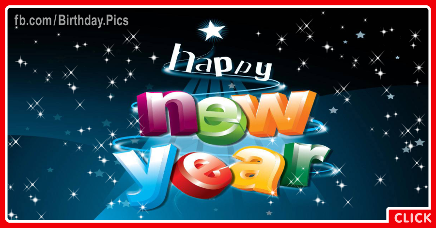 Happy new year with 3D Letters - 0026a