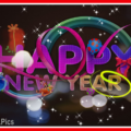 Happy new year card with sparks - 0027a