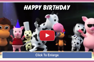 Happy Birthday Video with Animals