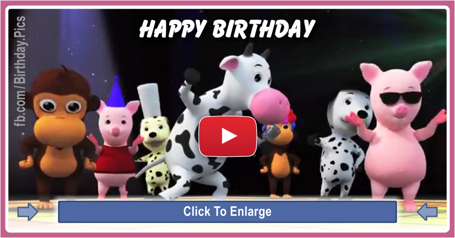 Happy birthday song animals - 0057a
