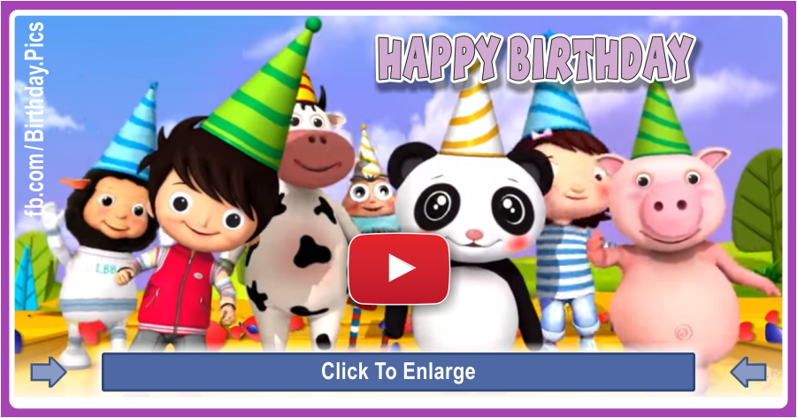 Happy birthday little kid video card - 0060a