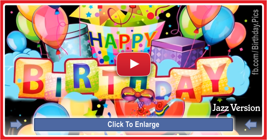 Happy birthday video jazz version - 0063a