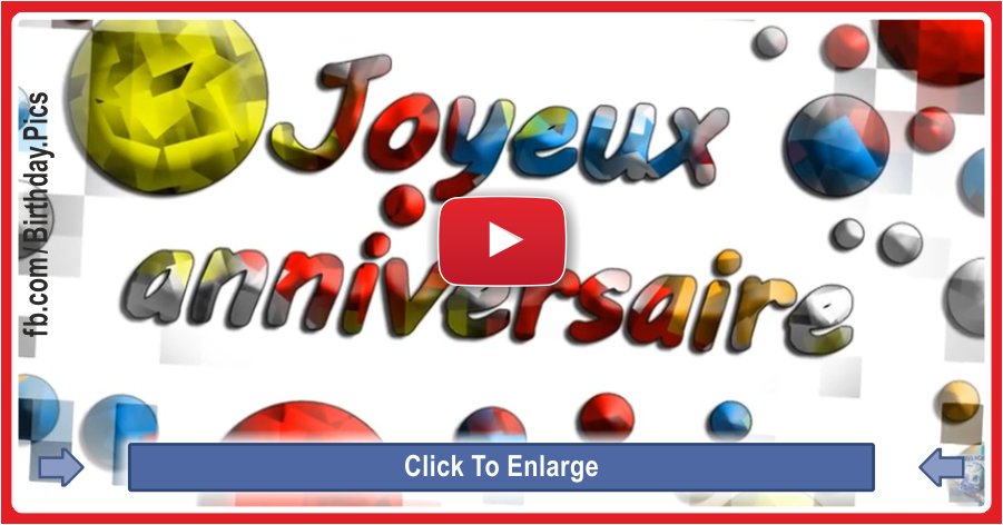 Happy birthday video French version - 0064a