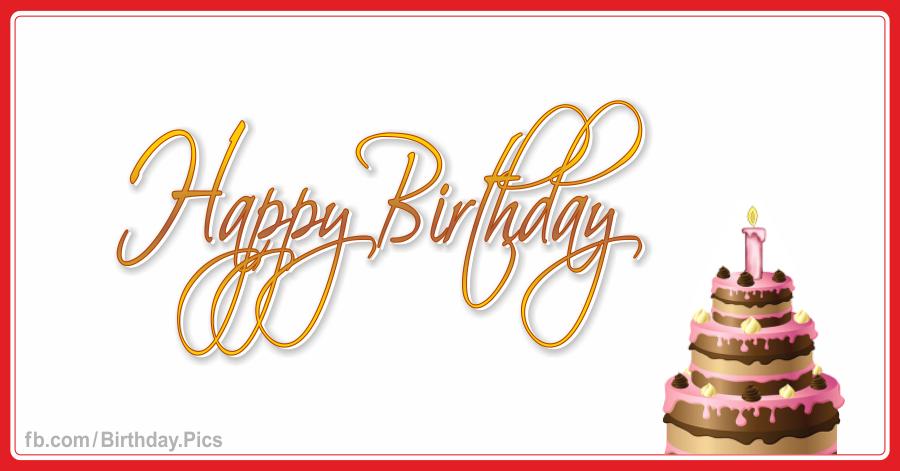 Happy birthday card with chocolate cake 017