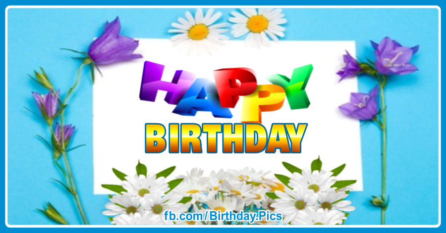 Happy birthday card with wild flowers 024