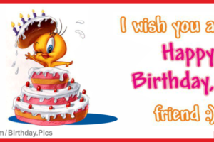 Happy Birthday Card with Tweety