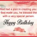 Birthday Bless Card - 033