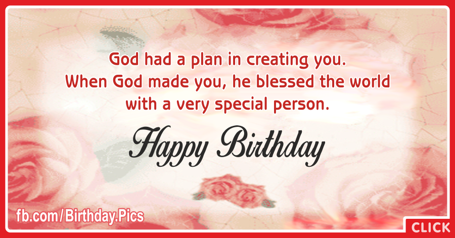 Birthday Bless Card - 033