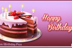 Happy Birthday to You – With Chocolate Birthday Cake
