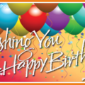 Happy birthday card with colorful balloons 022