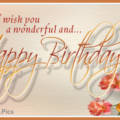 Happy birthday card with colorful candles 026