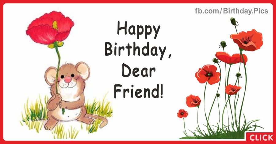 Cute happy birthday card - 043