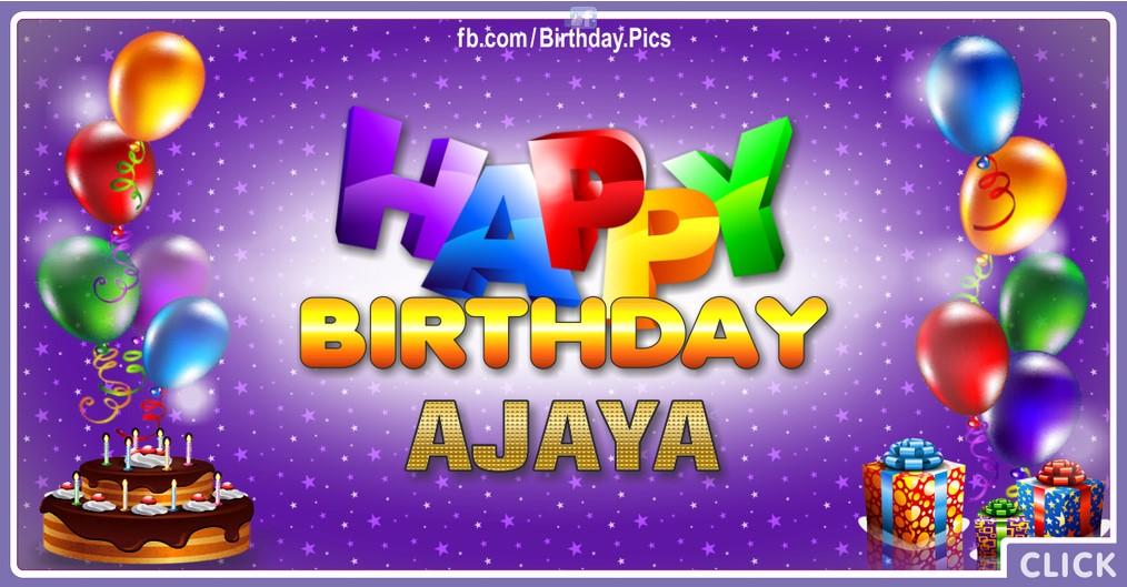 Happy Birthday Ajaya - 2