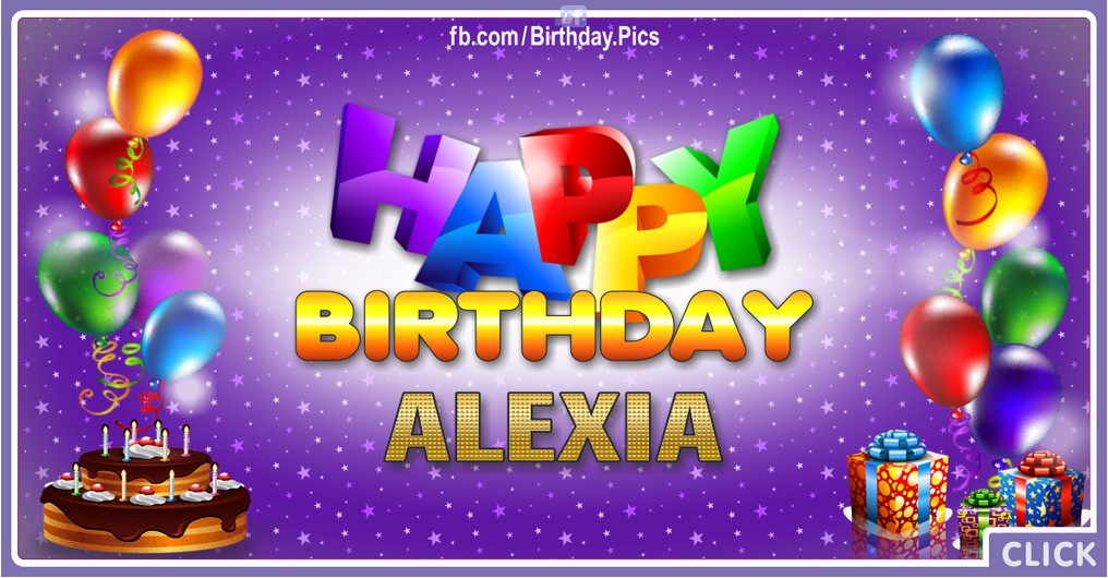 Happy Birthday Alexia