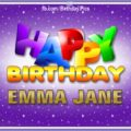 Happy Birthday Emma Jane