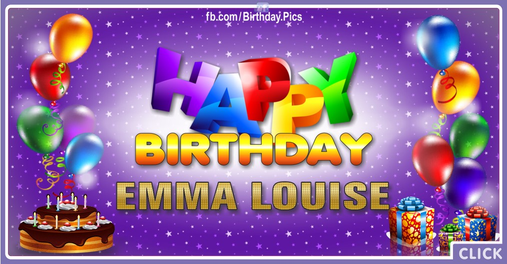 Happy Birthday Emma Louise - 2