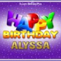 Happy Birthday Alyssa