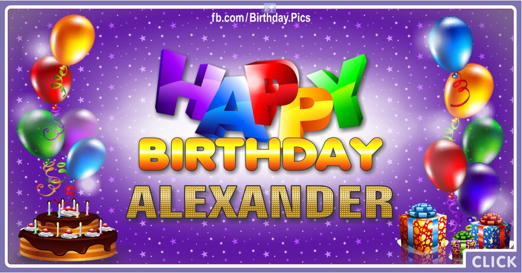 Happy Birthday Alexander