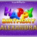 Happy Birthday Alexandra