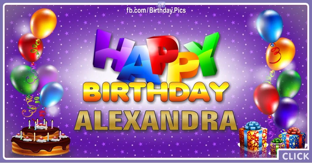 Happy Birthday Alexandra - 2