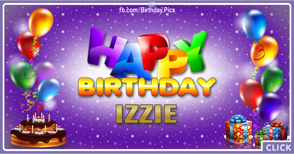 Happy Birthday Izzie - 2