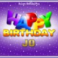 Happy Birthday Jo