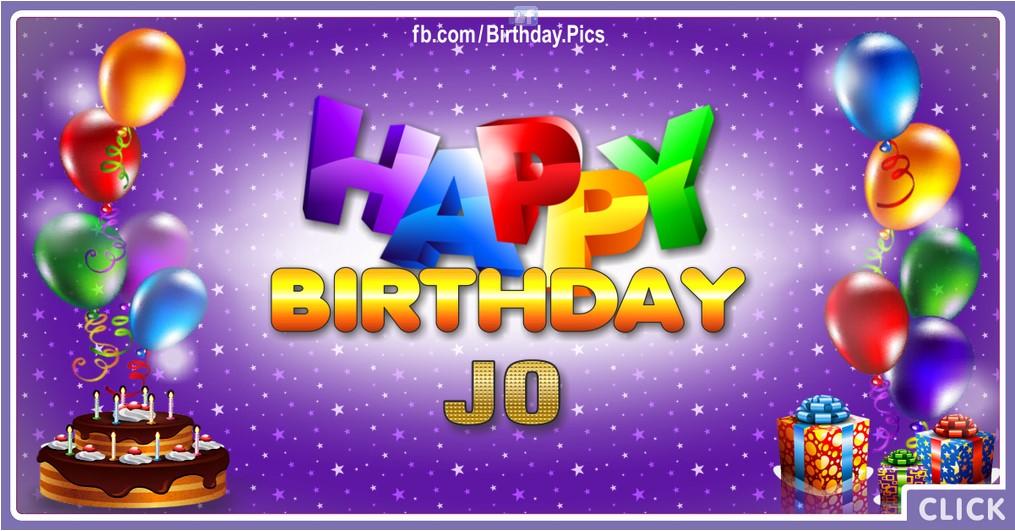 Happy Birthday Jo - 2