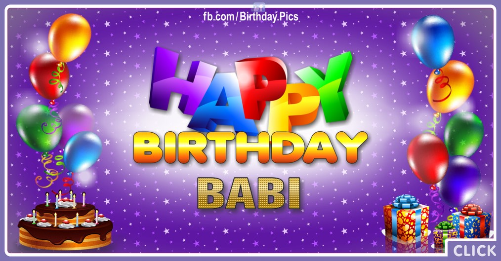 Happy Birthday Babi - 2