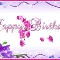 Spring flowers birthday card - 614