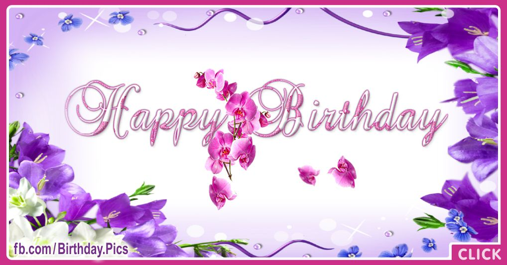 Spring flowers birthday card - 614